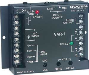 Bogen Communications VAR1 Voice Activated Relay  VAR1