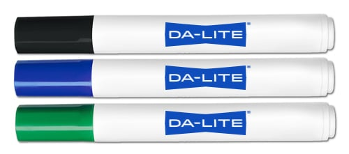 3-Pack of Dry Erase Markers in Green, Blue, and Black