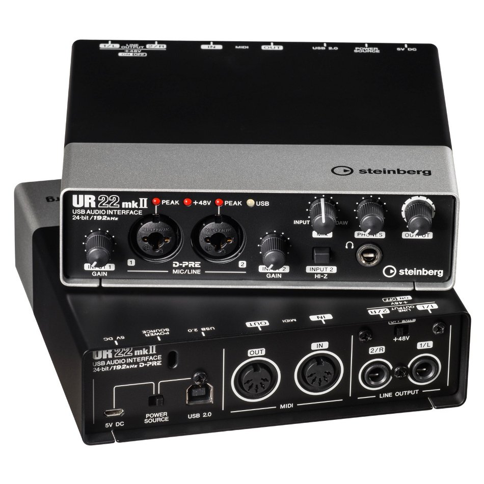 2 x 2 USB 2.0 audio interface with 2 x D-PRE and 192 kHz support
