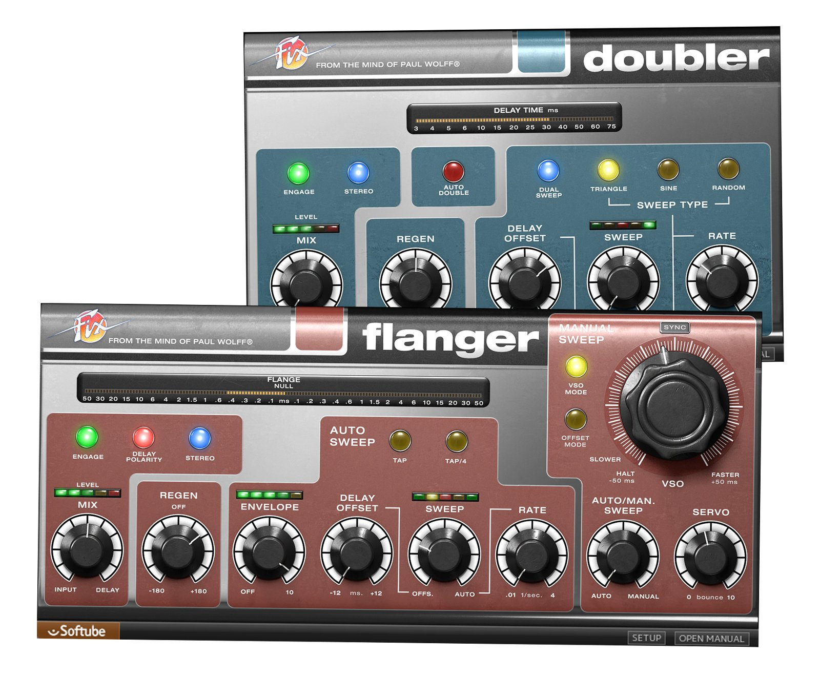 Flanger and Doubler Plugin Software, Virtual Version