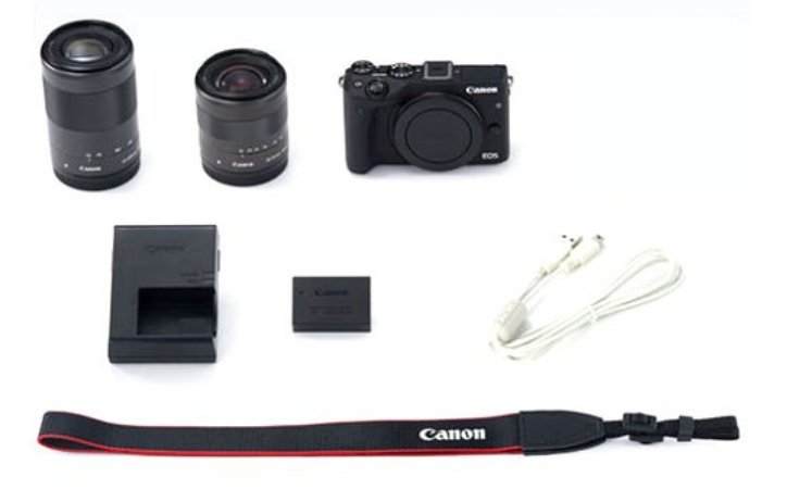 24.2MP EOS M3 DSLR with EF-M 18-55mm IS STM & EF-M 55-200mm STM Lenses