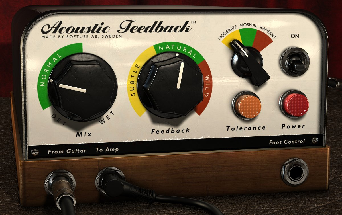 Softube Acoustic Feedback Guitar Feedback Simulator Plugin ACOUSTIC-FEEDBK-NATV