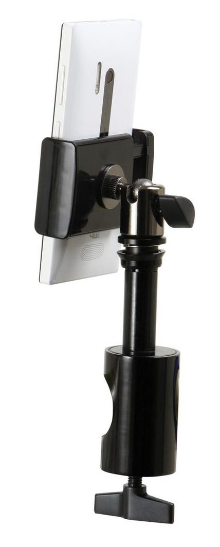 Grip-On Universal Device Holder with U-Mount Round Clamp