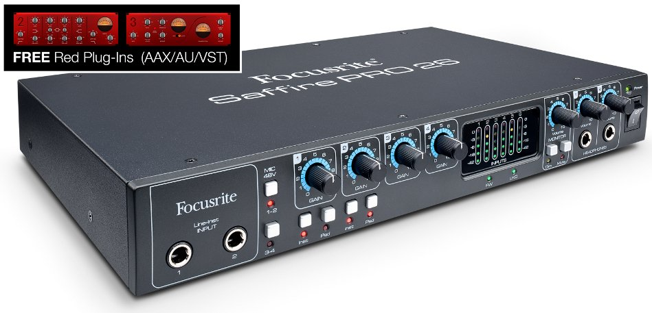 18 in/8 out Firewire/Thunderbolt Audio Interface