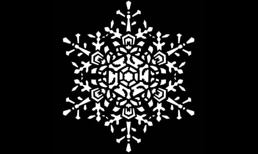 "Steel Gobo - ""Snowflake Medium Lace"" Design"