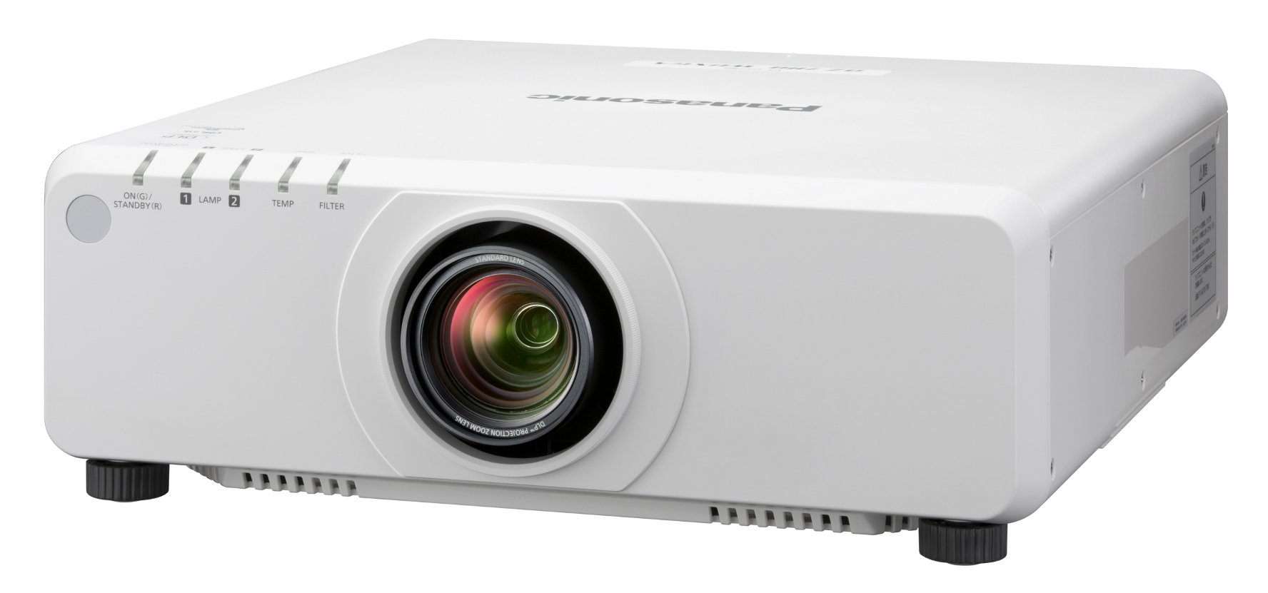 8200 Lumen WXGA 1-Chip DLP Projector in White Without Lens