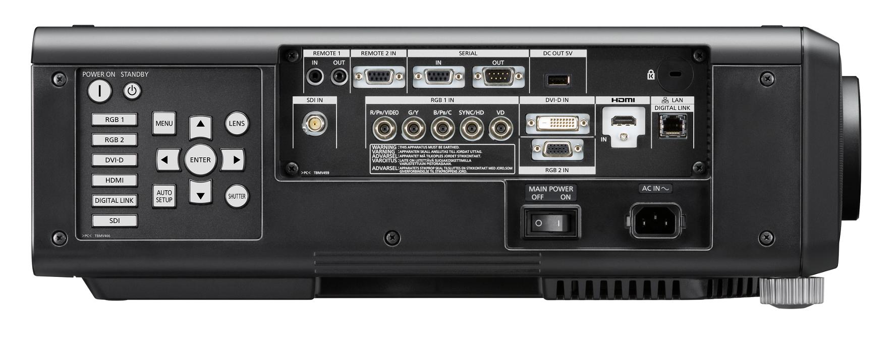 8200 Lumen XGA 1-Chip DLP Projector with Standard Lens & DIGITAL LINK in Black