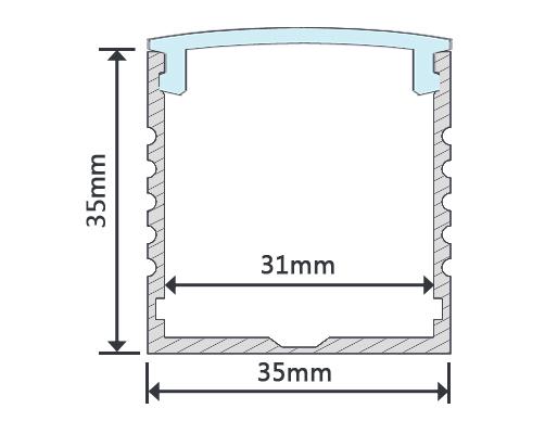 1M Type W Aluminum Extrusion