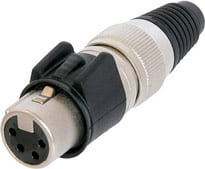 4-pin Female XLR Cable Connector, Heavy Duty