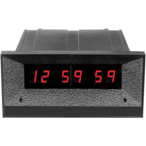 24 hour 6-Digit Clock/Timer with Front Mounted Switches