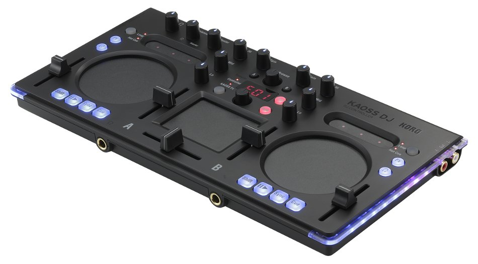 2-Channel DJ Controller with Onboard KAOSS Pad