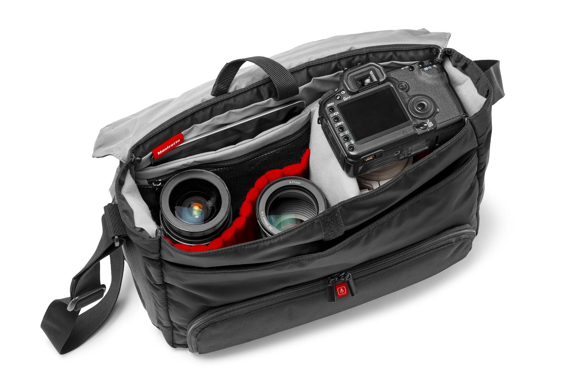 Gray Nylon DSLR Shoulder Bag