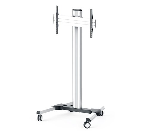 DisplayStation Cart w/ 600VESA, Single Display Mount and Casters, ALU