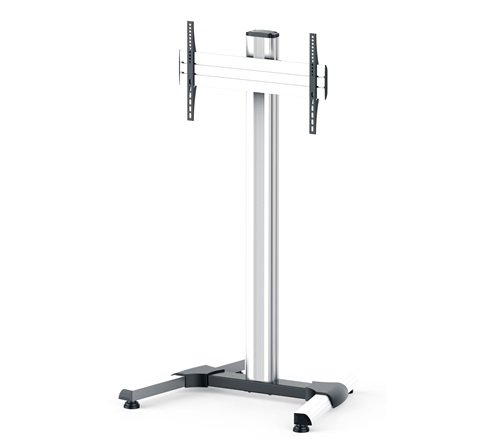 DispalyStation Stand with 600VESA, Single Display Mount and Levelers, ALU