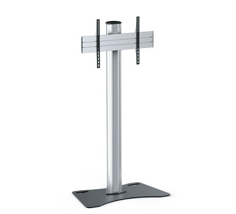 DisplayStation Stand with 600VESA, Single Display Mounting and Locking Plates, ALU