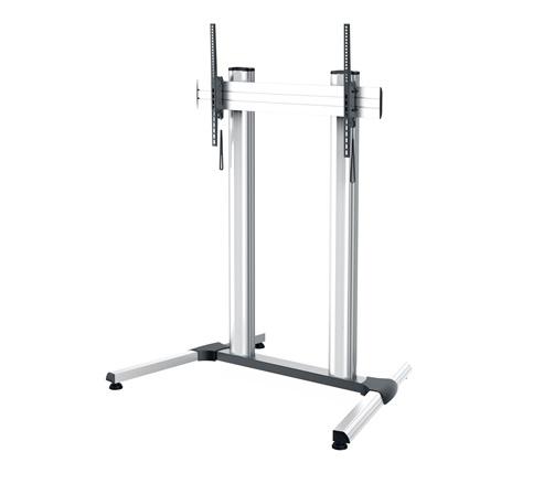 Middle Atlantic Products DS-1000SL-AL  DisplayStation Cart with 1000VESA, 2 Post Single Display, Levelers, ALU DS-1000SL-AL