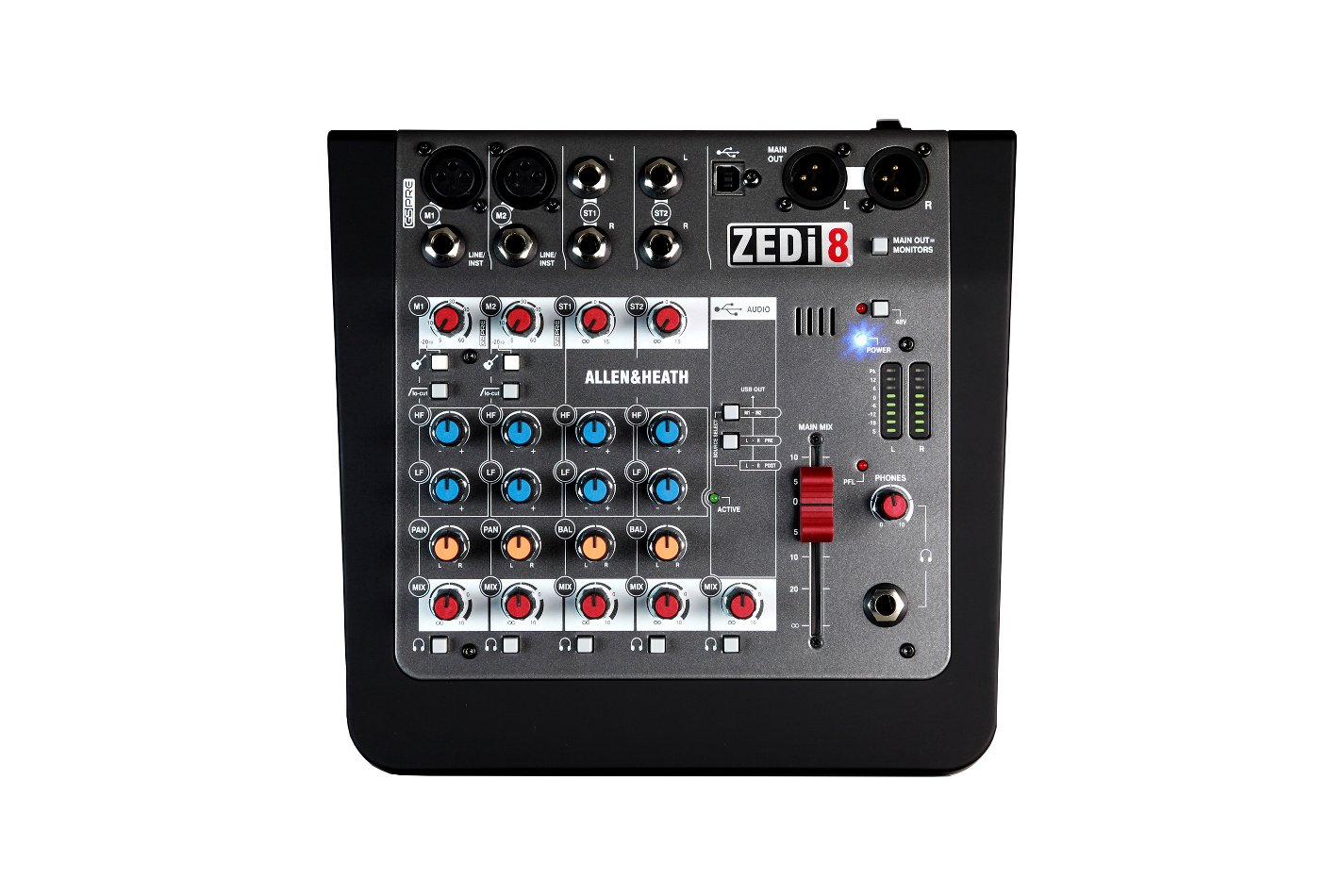 8 Input Hybrid Analog Mixer / 2x2 USB Interface w/ Cubase