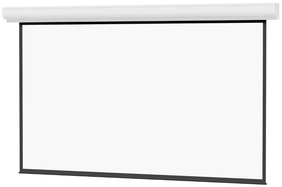 """Contour Electrol 78"""" x 139"""" High Contrast Matte White Projector Screen"""