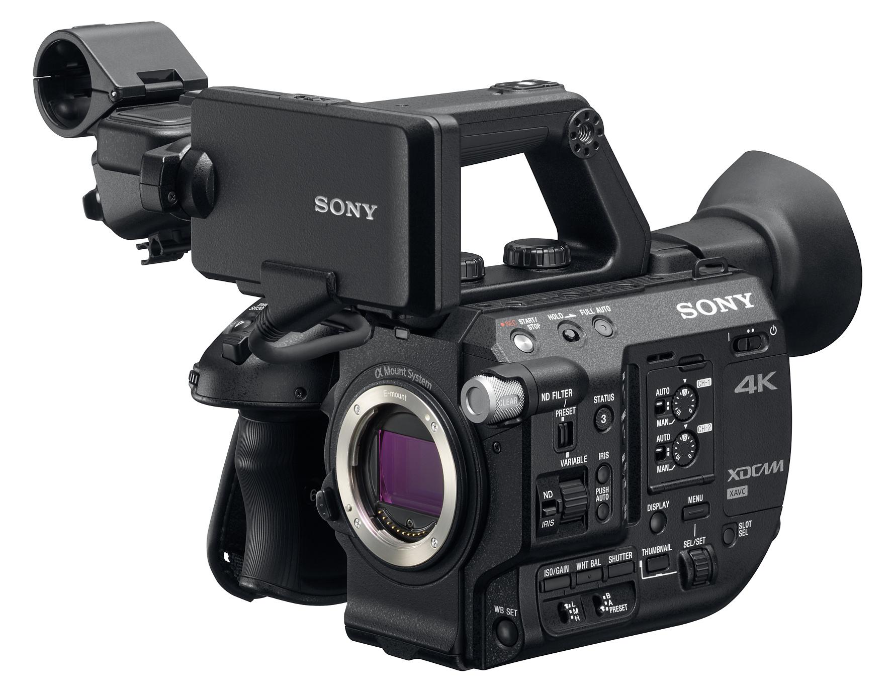 4K XDCAM Super35 Handheld Camcorder without Lens