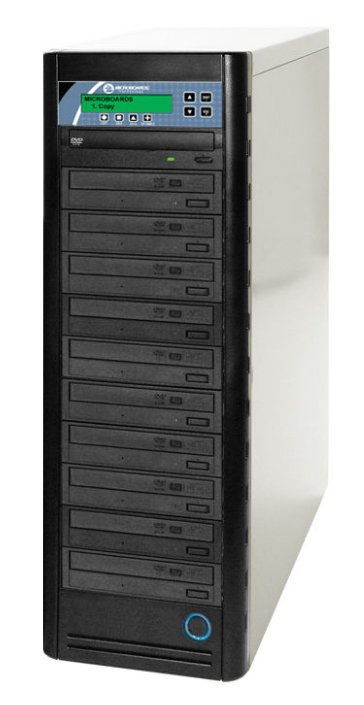 Networkable CopyWriter Pro CD DVD Blu-ray 1-to-7 Tower Duplicator