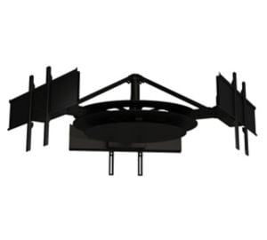 Multi-Display Ceiling Mount with Three Telescoping Arms