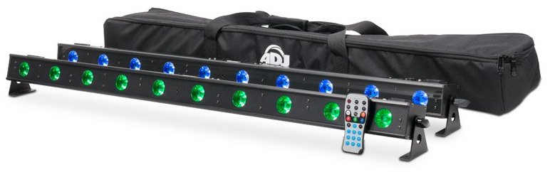 10 x 4W LED (RGB+UV) System with Two Ultra Bars