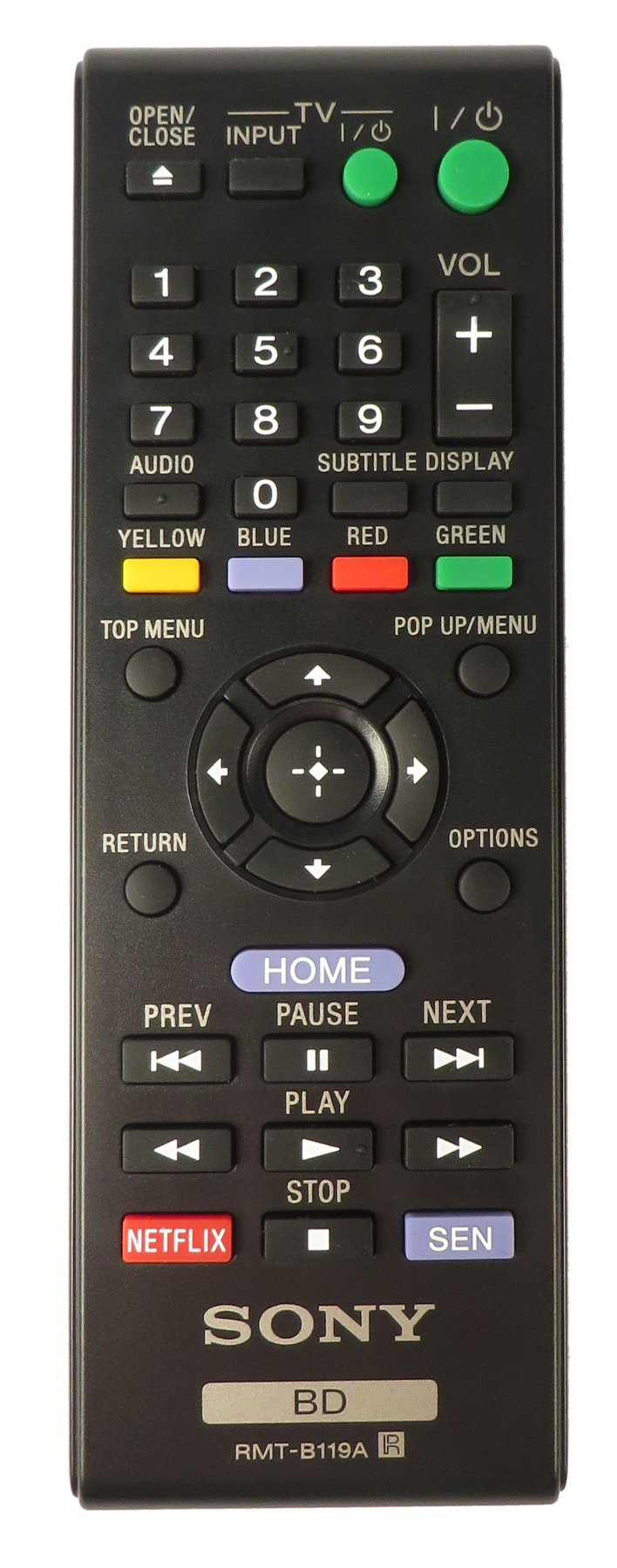 Sony Blu-ray Remote Control