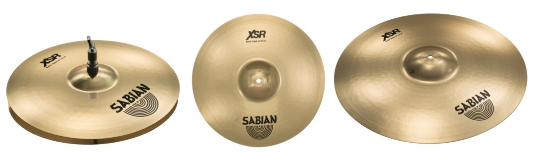 "Cymbal Pack with 14"" Rock Hats, 16"" Rock Crash, 20"" Rock Ride"