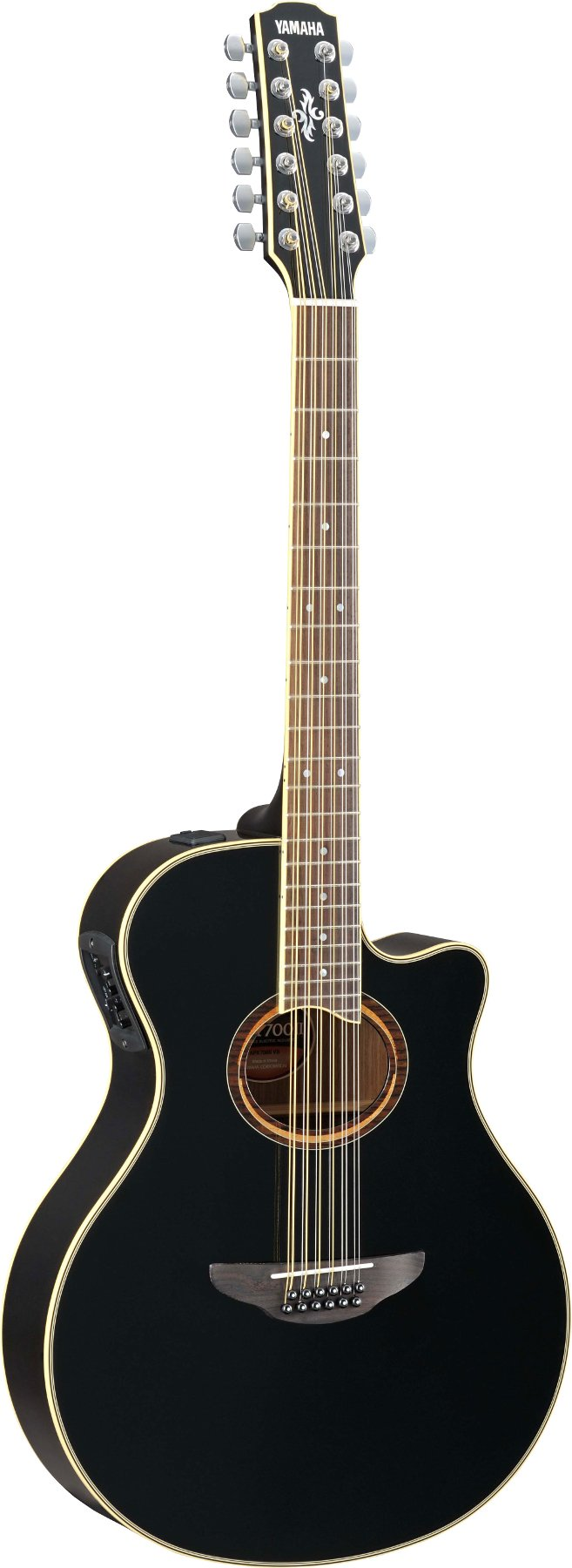 yamaha apx700ii 12 black 12 string thinline cutaway acoustic electric guitar full compass systems. Black Bedroom Furniture Sets. Home Design Ideas