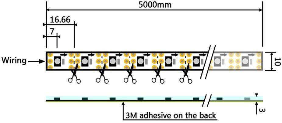 60 LED/Meter Pixel Tape