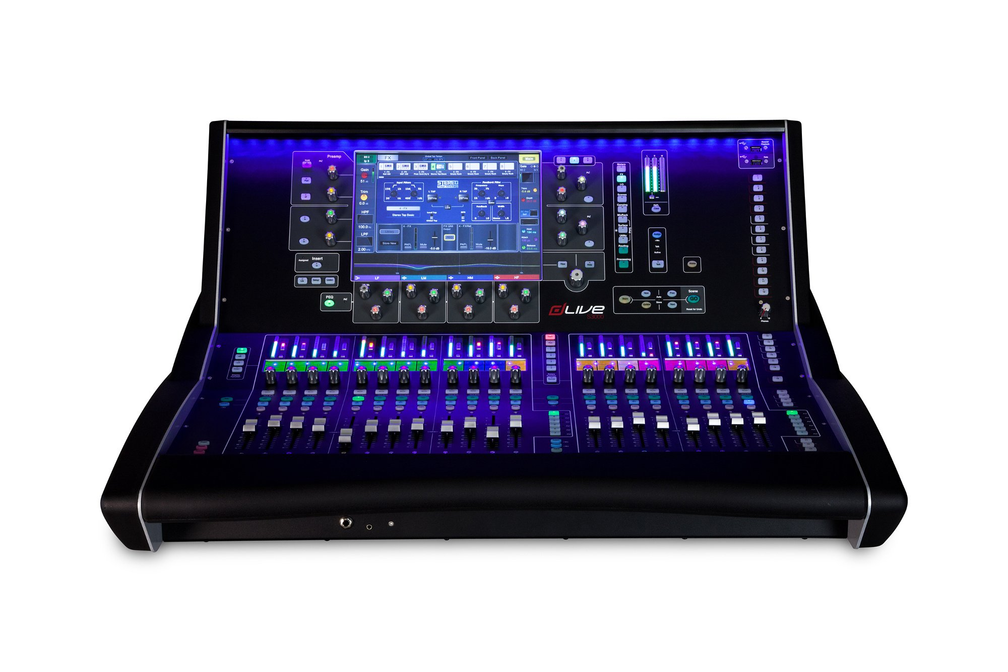 "Live Mixing Control Surface with 20 Faders and 12"" Touchscreen"