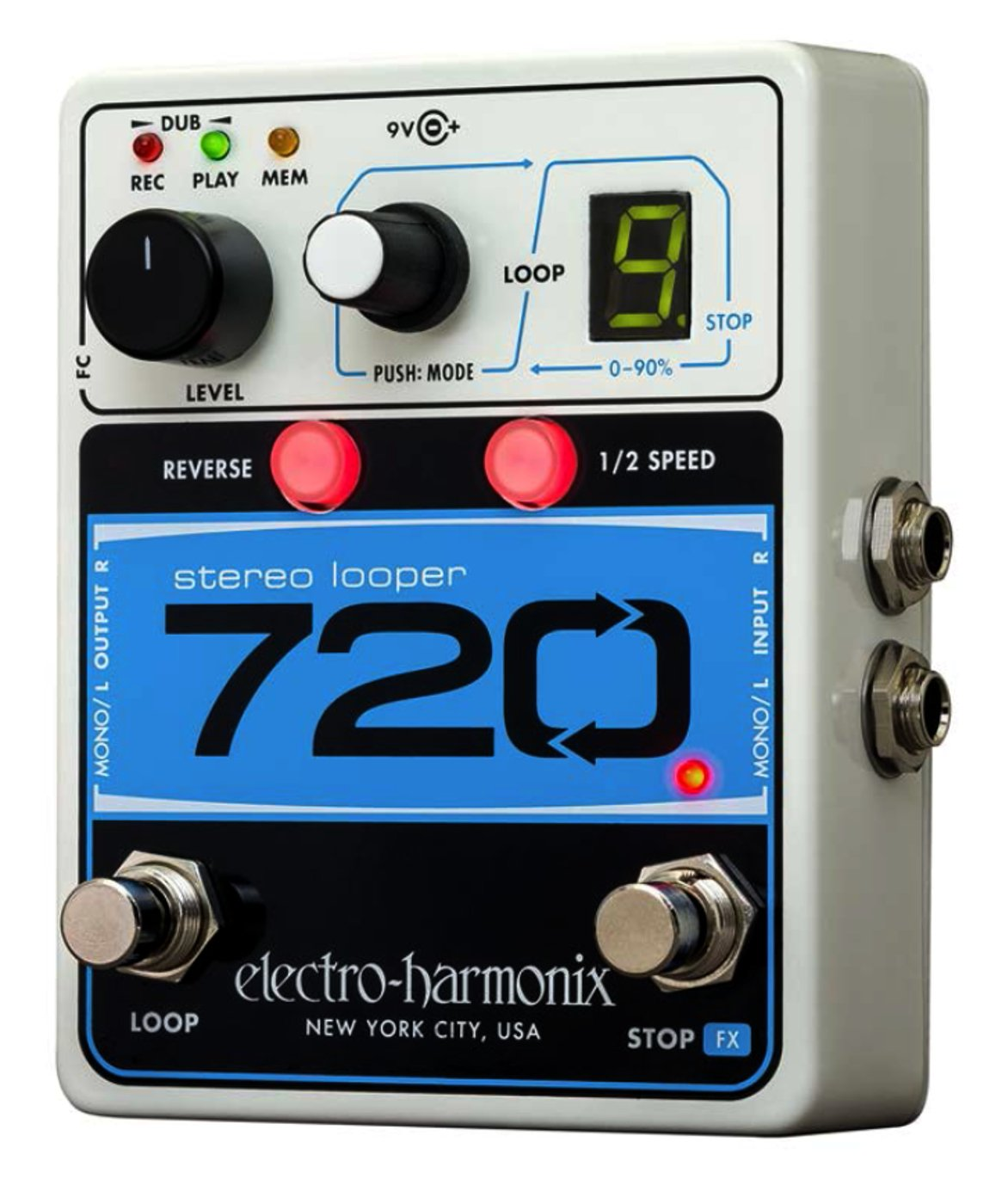 electro harmonix 720 stereo looper looping guitar pedal full compass. Black Bedroom Furniture Sets. Home Design Ideas