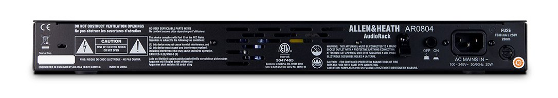 8-in/4-out Expander AudioRack for GLD Systems