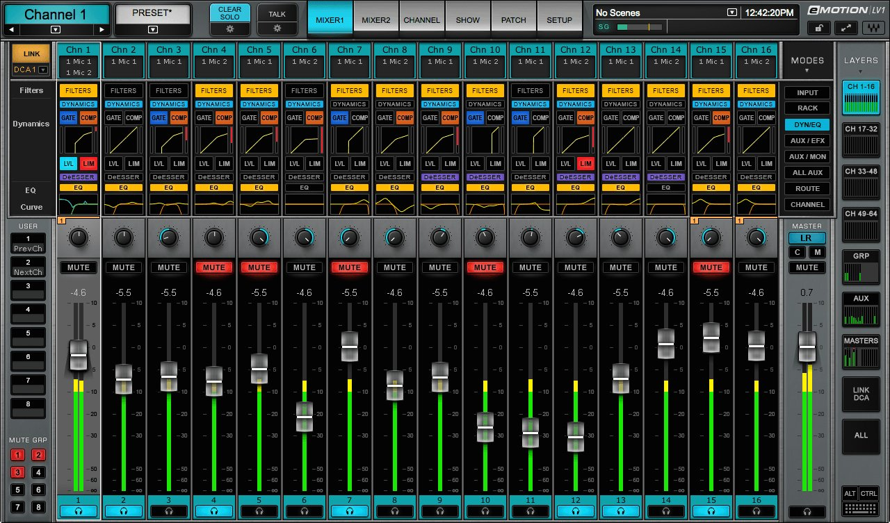 64-Channel Live Digital Mixing Software & Hardware Package with DiGiGrid MGB Interface and SoundGrid Extreme Server