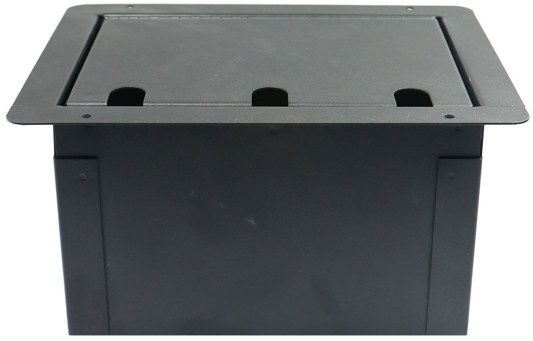 Recessed Floor Box With 6 XLRF + Duplex AC with Back Box