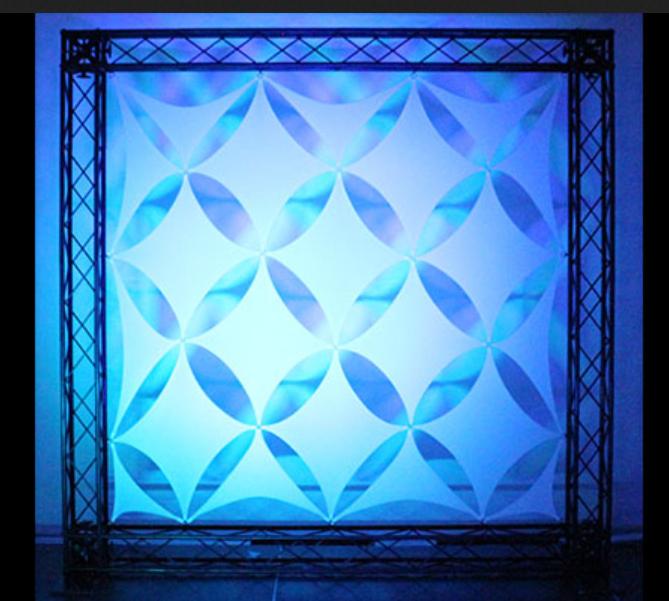 Odyssey SWDS12WHT  Scrim Werks 16 Piece Diamond - Diagonal Square Decor Panel Package SWDS12WHT