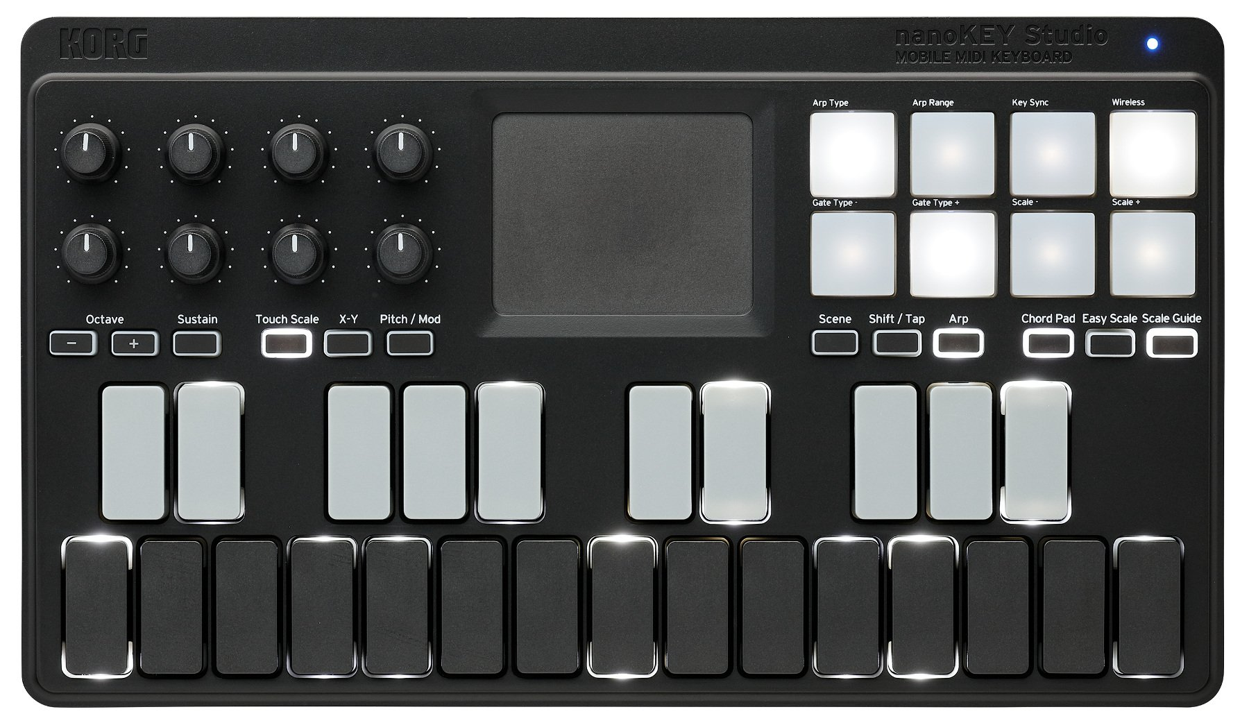 Mobile 25-Key USB MIDI Controller with Bluetooth