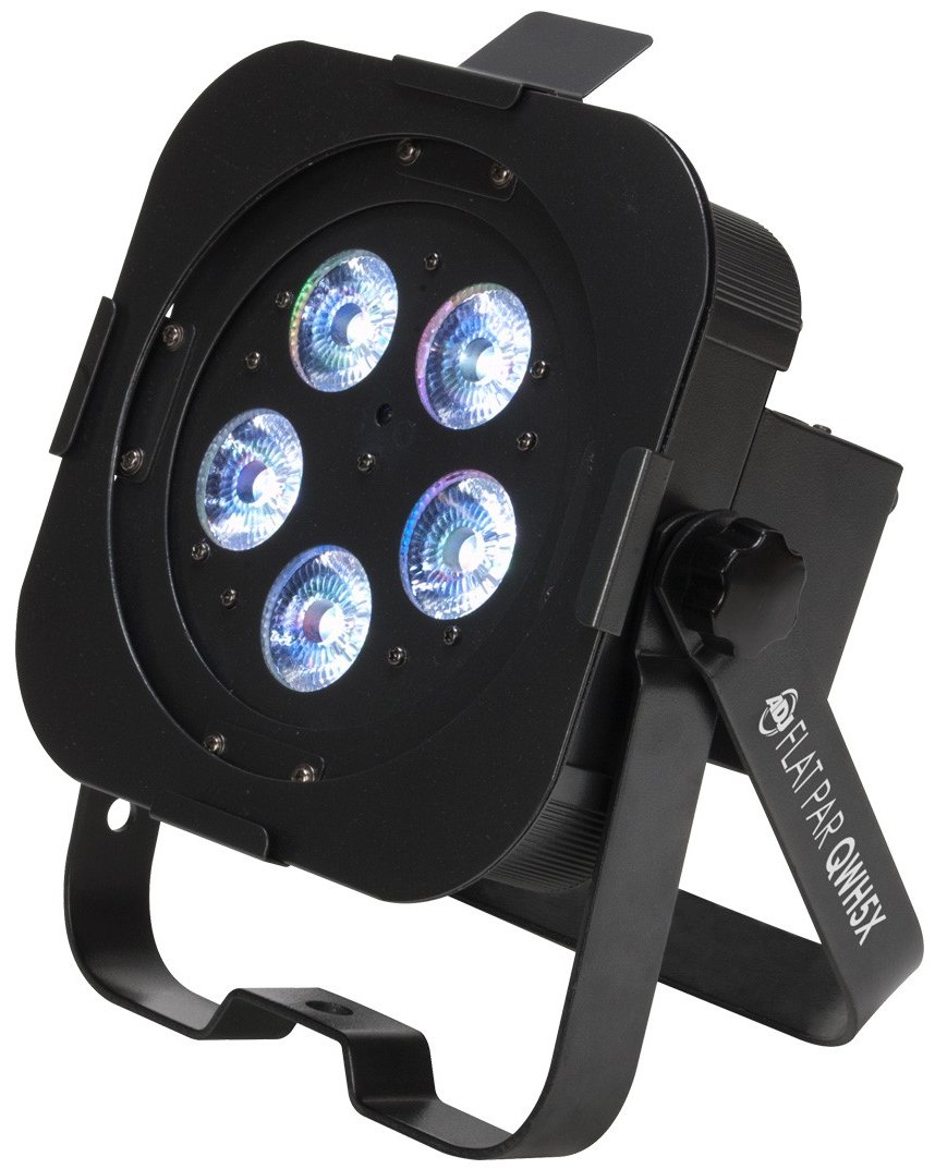 5x 5W RGBW LED Slim Par with DMX and Included Snoot