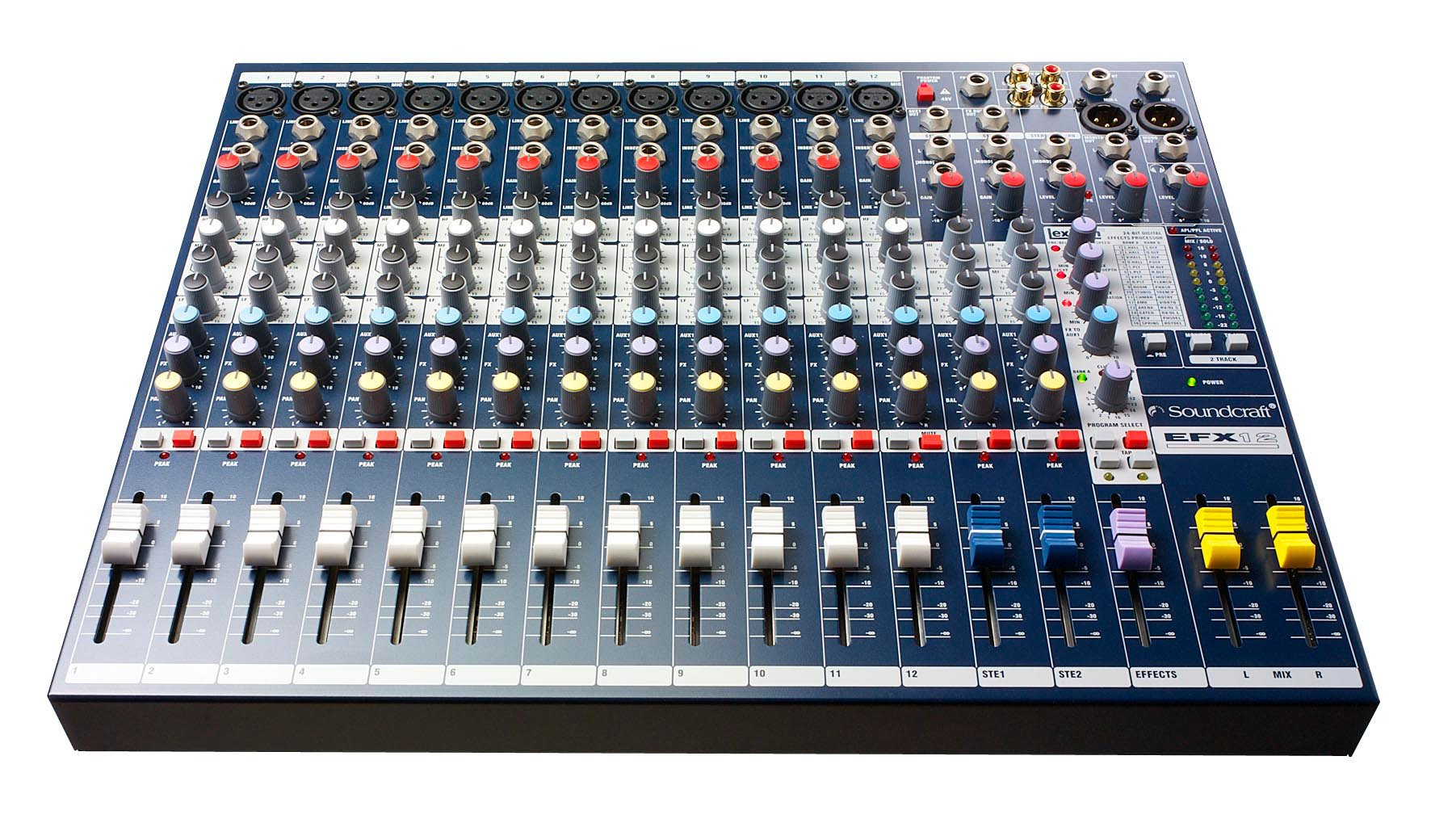 12-Channel Mixer with Onboard Lexicon Effects Processor