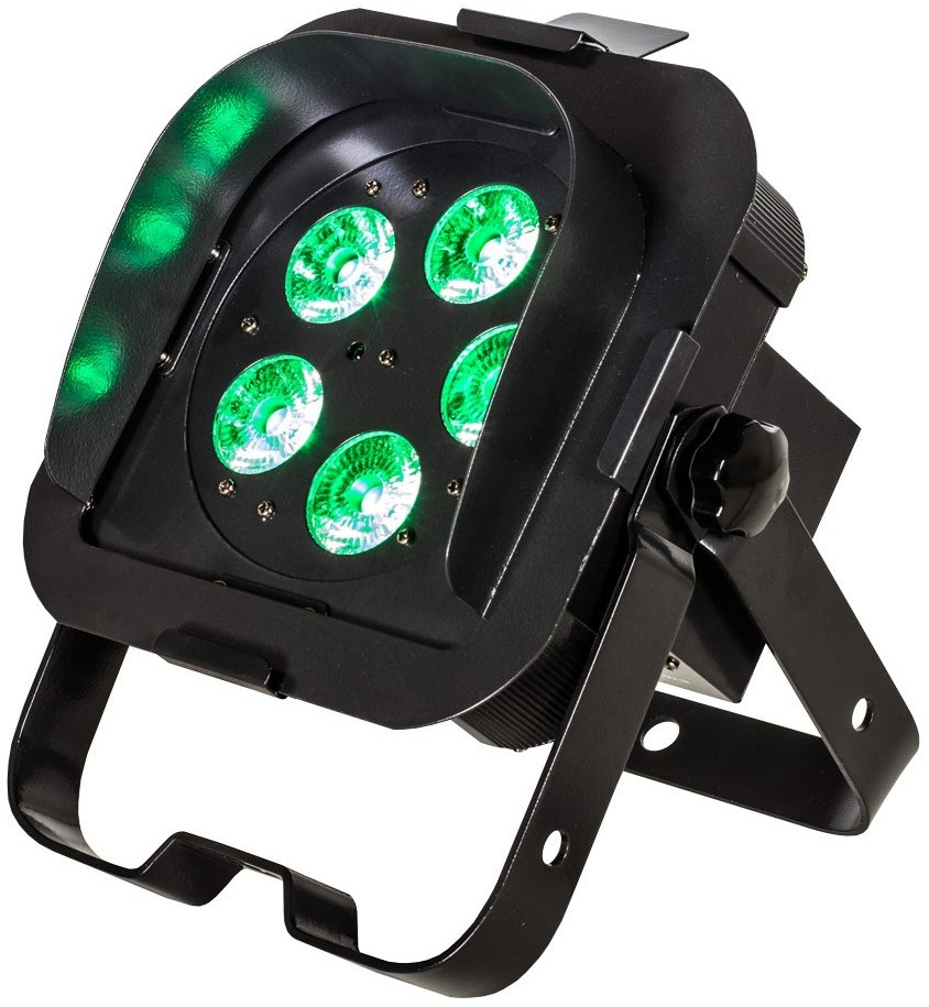5x 5W RGBA DMX LED Ultra Bright Low Profile Par with Snoot