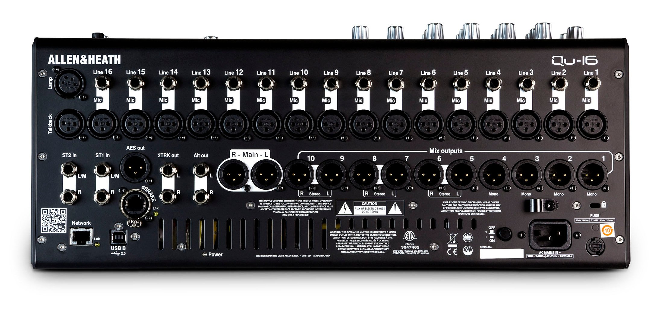 allen heath qu 16c 16 channel digital mixer full compass systems. Black Bedroom Furniture Sets. Home Design Ideas