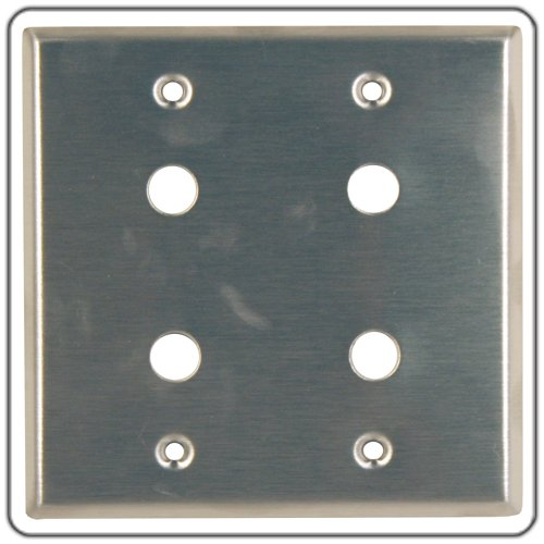 Dual Gang Wall Plate with 6 Cut Outs for D Series Connectors