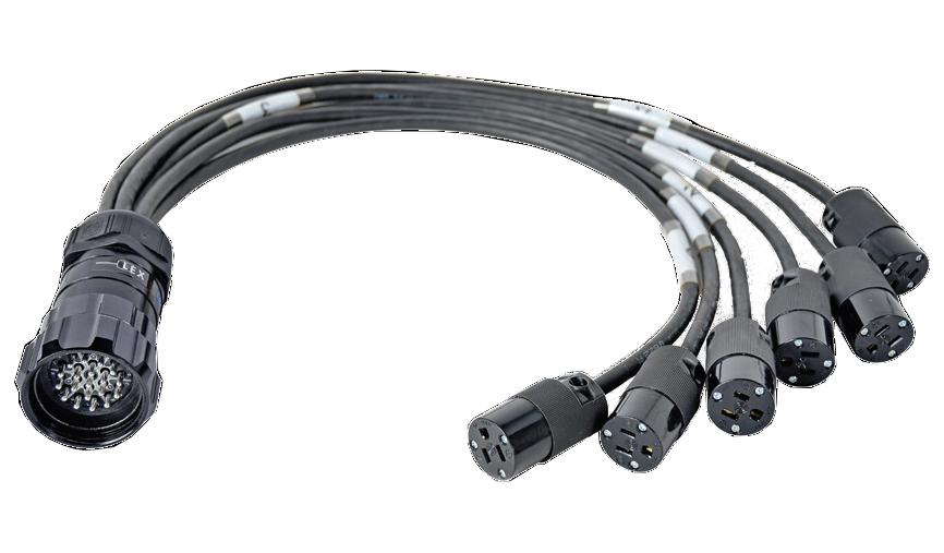 20 Amp 250 VAC 6 NEMA All Black Cable