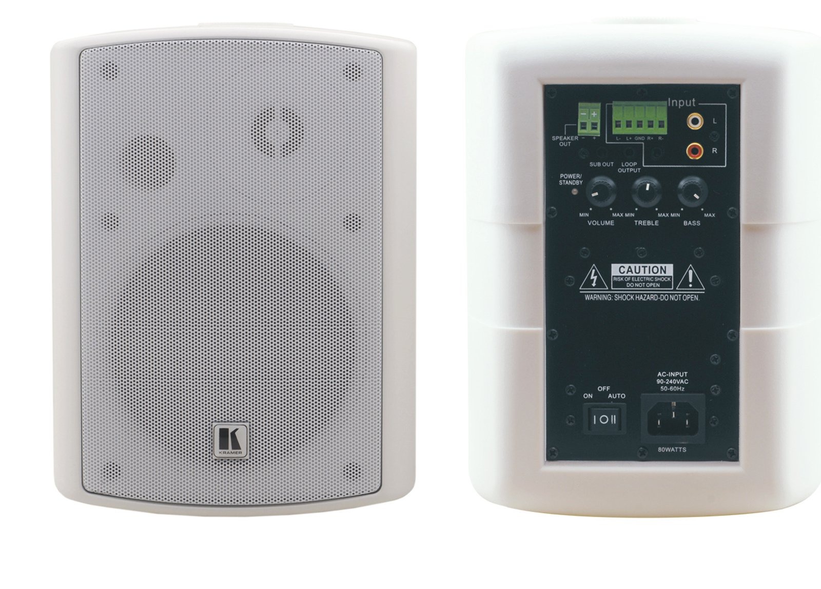 "Powered Speaker, 2-Way, Wall-Mount, 5.25"""