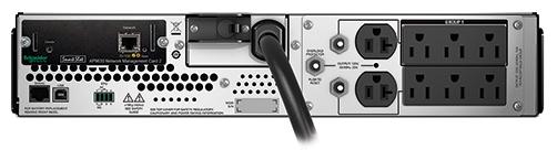 APC Smart-Ups 3000VA LCD RM 2U 120V with NMC Installed and Ethernet, USB
