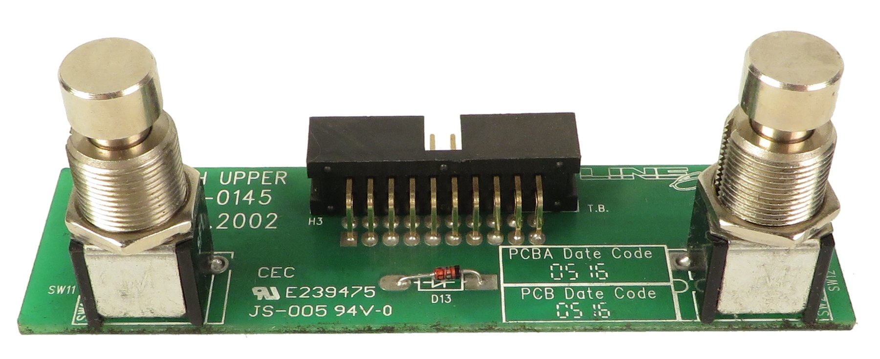 Line 6 50-00-0145  Upper Switch PCB for FBV Shortboard 50-00-0145