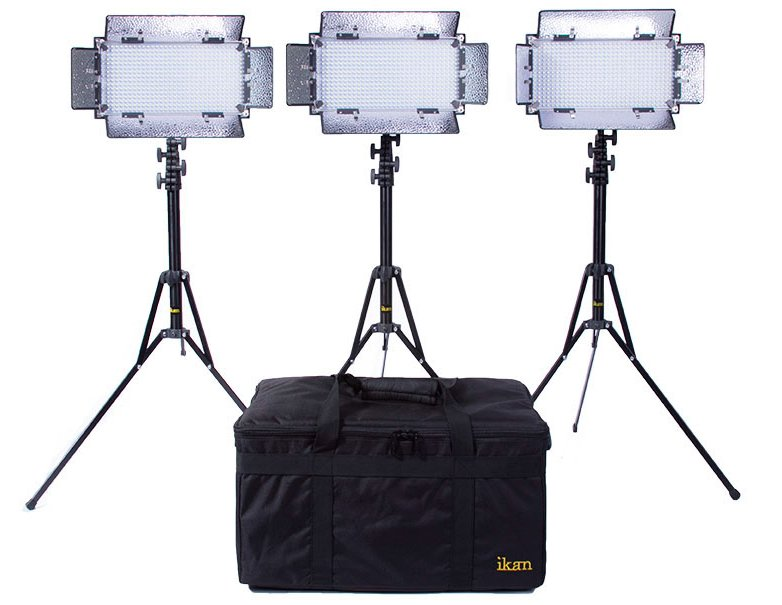 3 x IB508-v2 Bi-Color LED Studio Light Kit