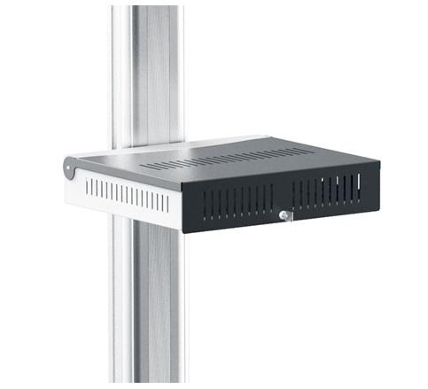 16Wx14D Black Locking Shelf