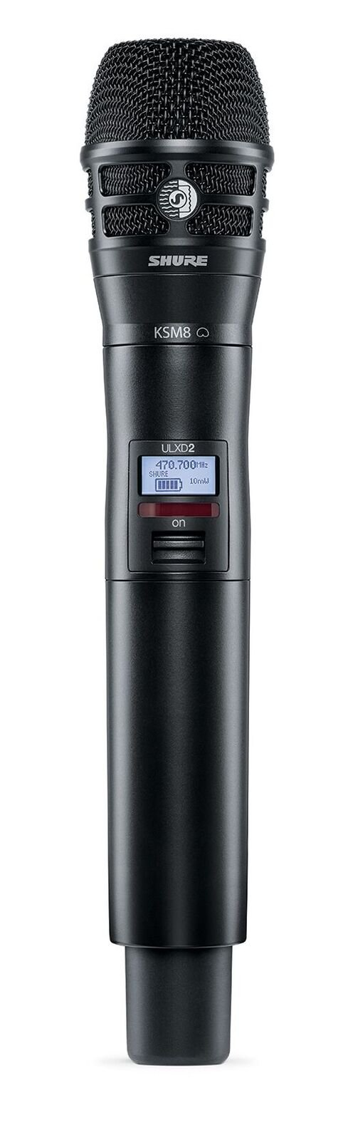 Handheld Transmitter in Black with KSM8 Capsule for ULX-D Wireless Systems, G50 Band (470-534 MHz)