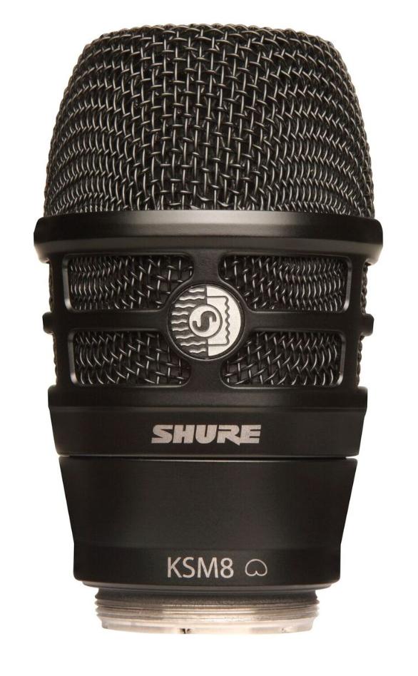 KSM8 Capsule in Black for Shure Wireless Handheld Transmitters